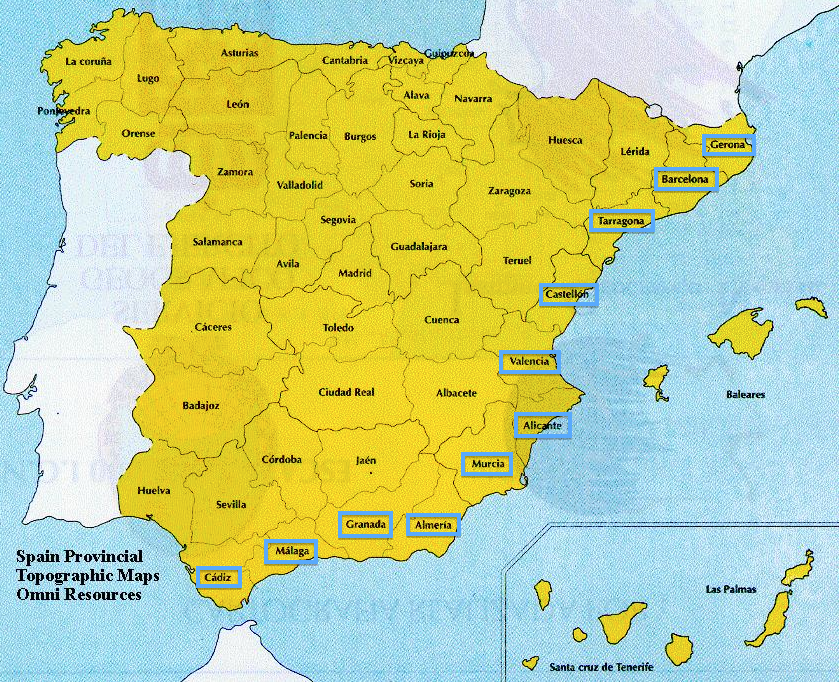cadiz spain map