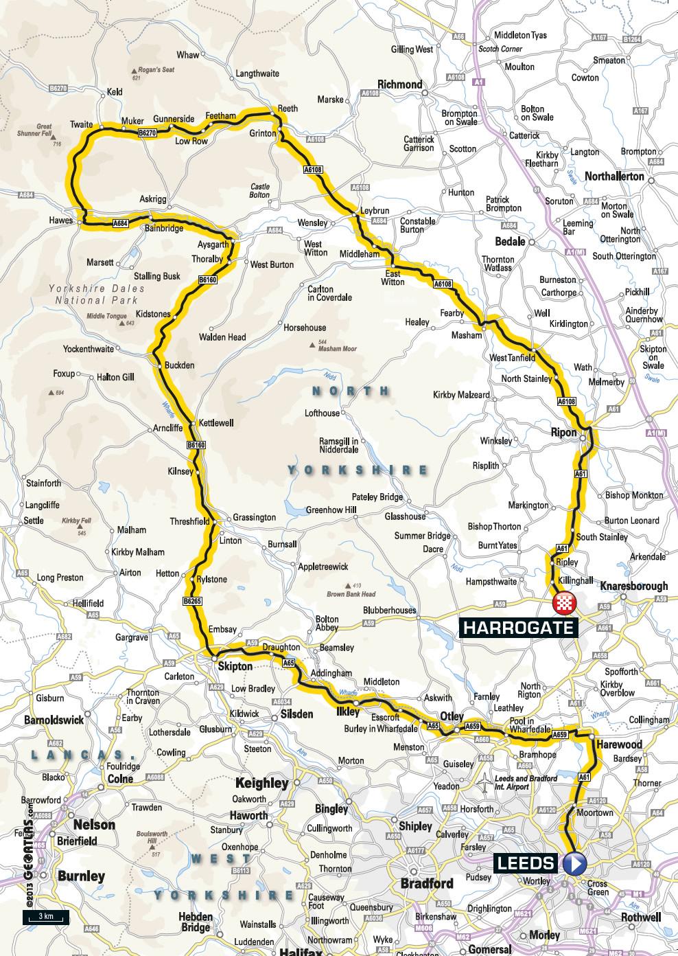 The Tour De France 2014 In… Elland: Full Route ...