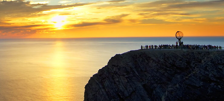 Midnight-sun-at-North-Cape-Norway-740