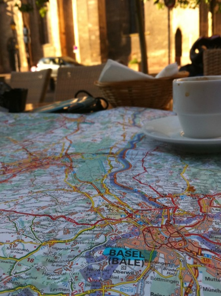 Planning the route up The Rhine
